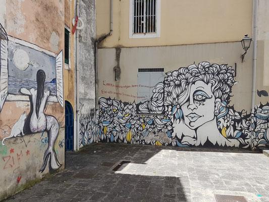 Graffiti in der Altstadt von Salerno