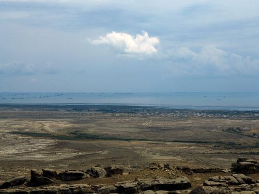 Blick vom Nationalpark zum Kaspischen Meer