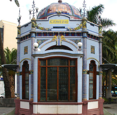 Las Palmas, Jugendstil-Kiosk im Parque de San Telmo