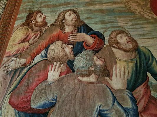 Das Fest der Himmelfahrt unseres Herrn. Flämischer Gobelin, Brüssel 1524-1531