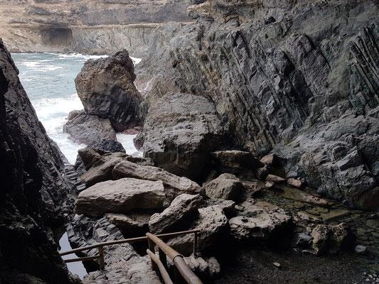Ajuy, Blick aus der Cueva negra