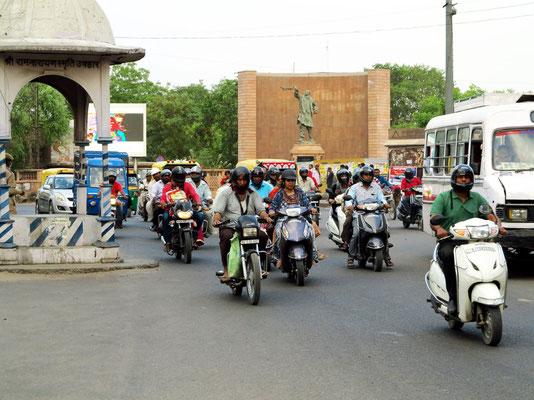 Nai Sarak Chauraha, ein Verkehrsknotenpunkt in Jodhpur