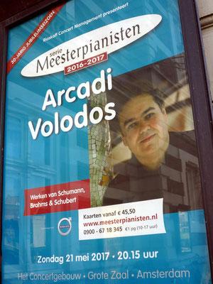 Ankündigung des Klavierkonzerts mit Arcadi Volodos