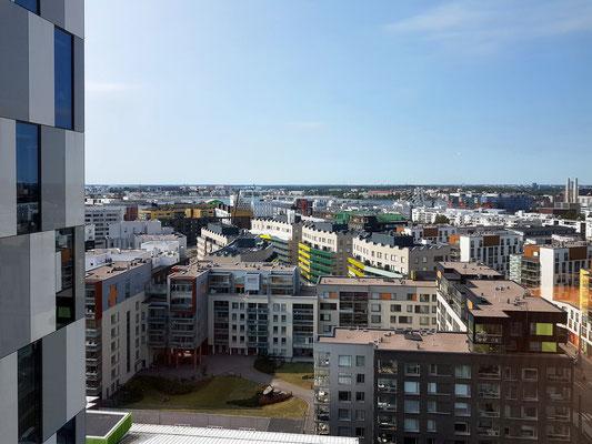 Blick vom 13. Geschoss des Hotels Clarion auf Helsinki