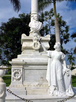 Grab von Carlos Manuel de Céspedes, Freiheitskämpfer, Begründer der kubanischen Nation und erster Präsident