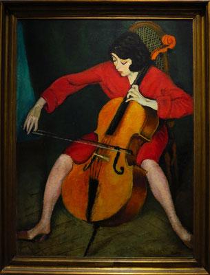 Róbert Berény: Cellistin, 1928