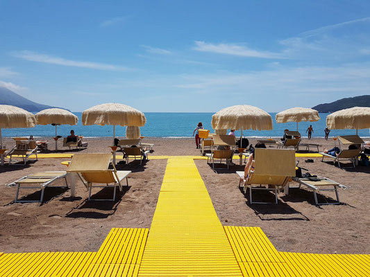 Strand des Hotels Splendid