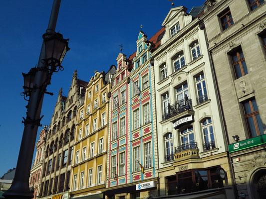 Giebelhäuser an der Ostseite des Rynek