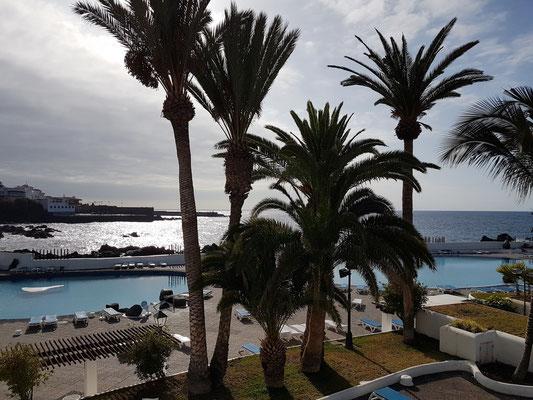 Puerto de la Cruz. Blick auf die Meeresschwimmbecken der Costa Martiánez