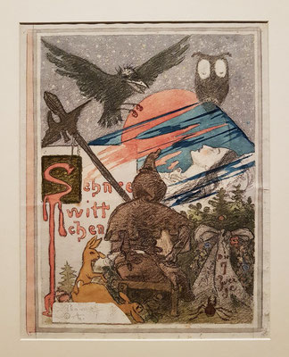 Schneewittchen, 1895/96. Aquarell, Kohle, Bleistift auf Büttenpapier