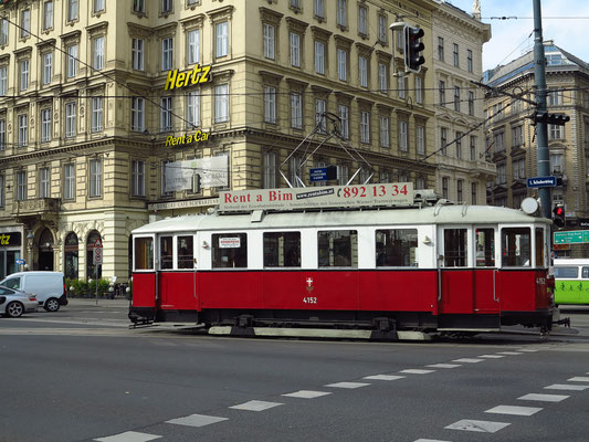 Straßenbahn-Oldtimer für Sonderfahrten. www.rentabim.at
