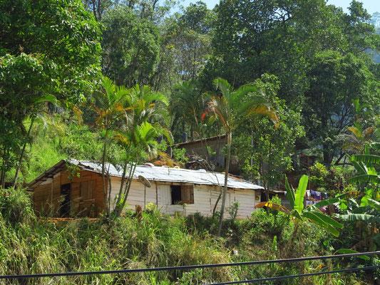 Haus eines Landarbeiters in den Bergen