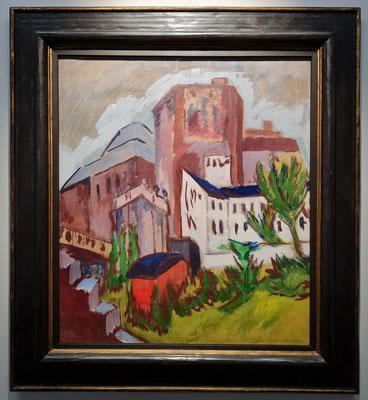 Ernst Ludwig Kirchner (1880-1938): Der Stadtturm, 1919, Öl auf Leinwand