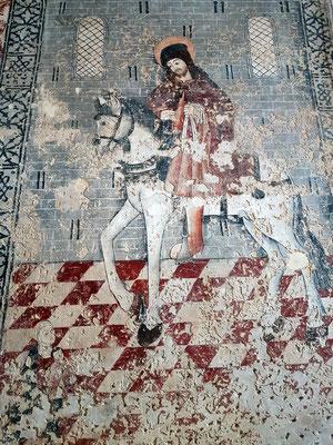 Fresko in der Igreja de São Sebastião
