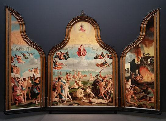 Lucas van Leyden: Das jüngste Gericht, Triptychon, Leihgabe des Museums Lakenhal in Leiden