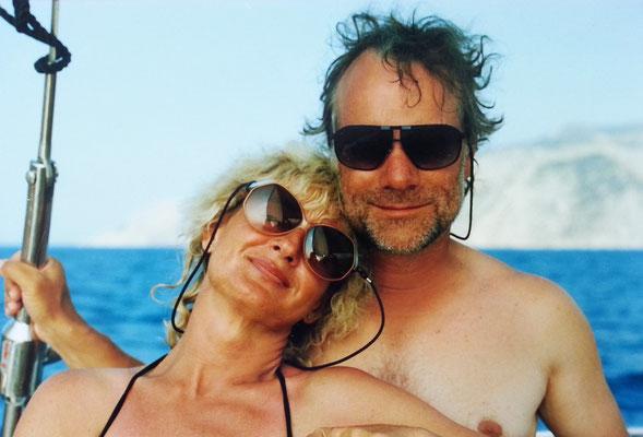 Almut und Frank auf Segeltörn, Jugoslawien 1988