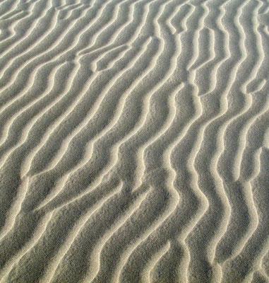 Umschlagrückseite: Maspalomas, Rippelmarken im Sand