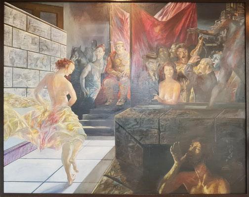 Ulrich Hachulla: Salome, Öl auf Leinwand/Hartfaser 1981