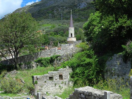 Blick von der Festung zur Moschee