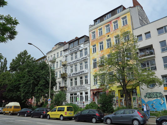 Ehemals besetzte Häuser in der Hafenstraße