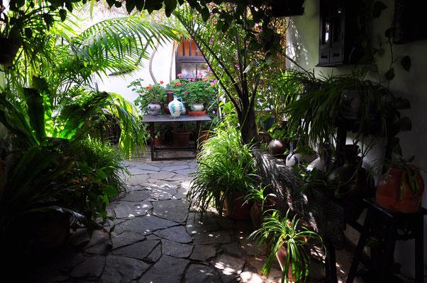 Betancuria, Patio im Restaurant Casa Santa María
