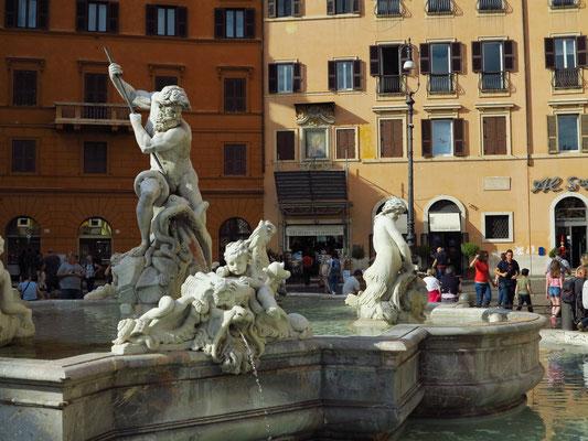 Piazza Navona mit Neptunbrunnen
