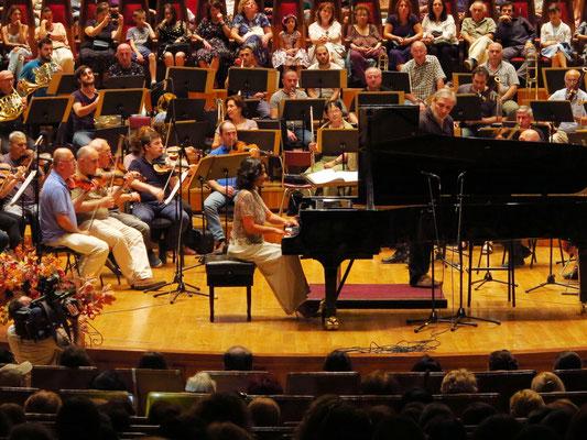 Khatia Buniatishvili mit dem Tbilisi Symphony Orchestra unter Leitung von Vakhtang Kakhidze (Generalprobe am 14.9.2018)