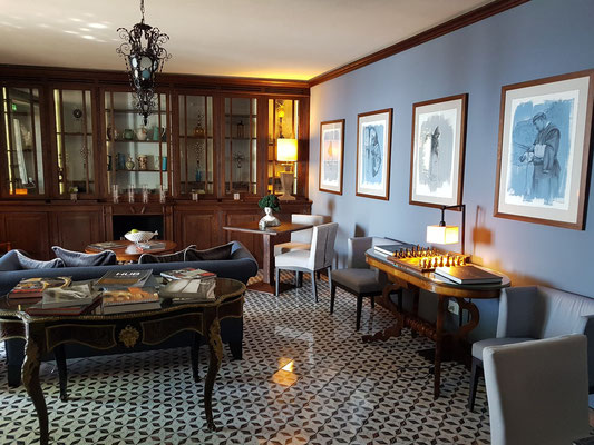 Monastero Santa Rosa Hotel & Spa, Aufenthaltsraum zum Lesen und zur Kommunikation