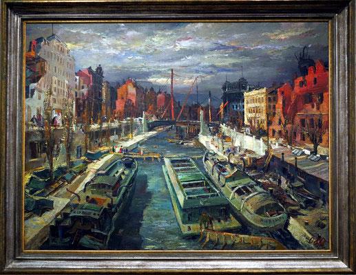 Otto Rudolf Schatz (1900-1961): Zerstörter Kai, 1945, Öl auf Leinwand