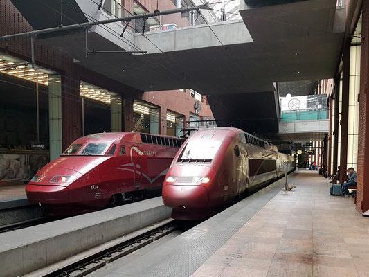 Neuerer Teil des Bahnhofes, Gleise der Fernstrecken im Untergeschoss