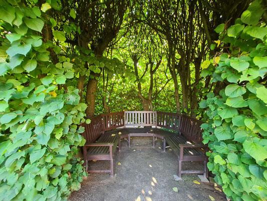 Ort der Ruhe im Bachhaus-Garten