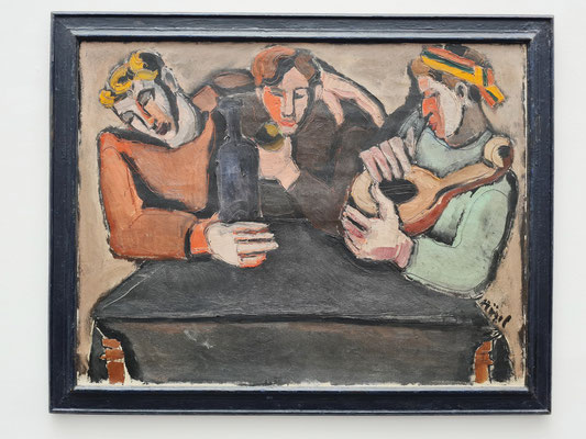 Helmut Kolle (1899-1931): Die drei Trinker, um 1925/26, Öl auf Leinwand