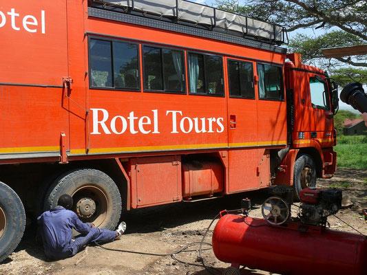 Technische Pause im Serengeti Visitor's Centre