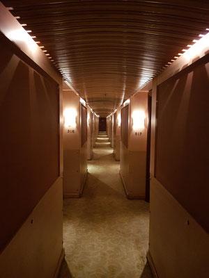 Flur zu den Kabinen auf Deck 3