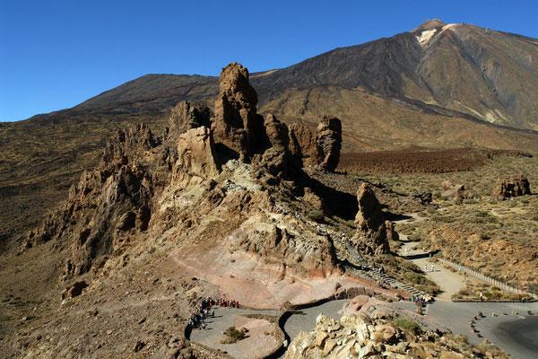 Las Cañadas. Los Roques und Pico de Teide