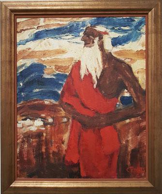 Christian Rohlfs (1849 - 1938), Moses überschaut das verheißene Land, 1912
