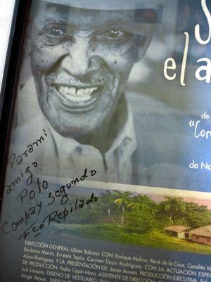 Widmung von Compay Segundo für Polo Montañez