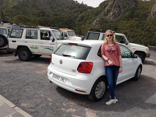 Parken am Aussichtspunkt des Roque de Agando