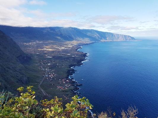 Blick vom Mirador de la Peña auf Ell Golfo
