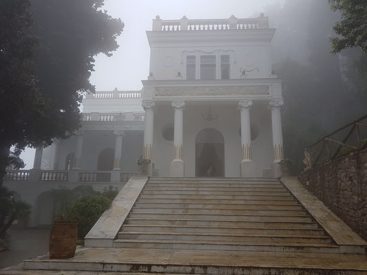 Villa Lysis im Nebel