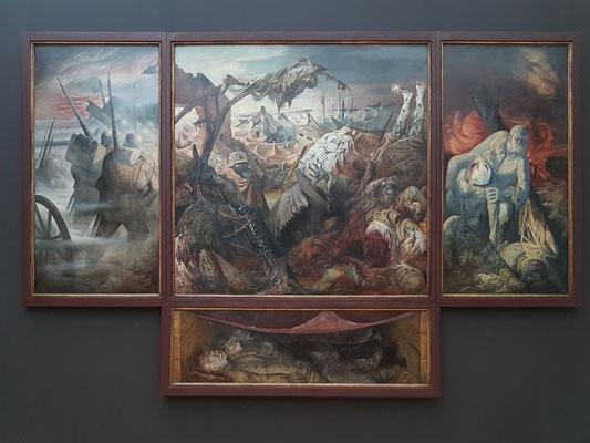 Otto Dix (1891-1969): Der Krieg (Triptychon, 1929/32, Mischtechnik auf Sperrholz