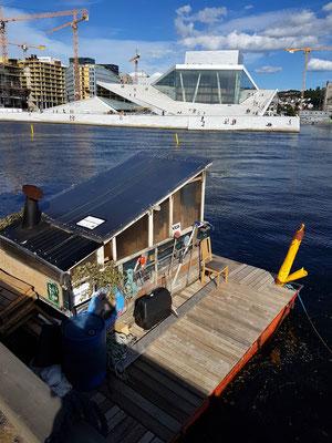 Die einzige Floßsauna im Stadtzentrum von Oslo