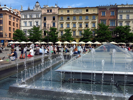 Brunnenanlage auf dem Hauptmarkt vor der Marienkirche