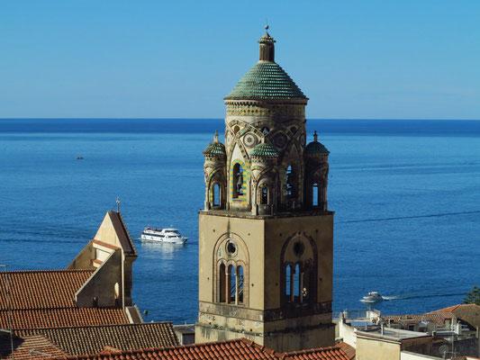Romanischer Glockenturm des Doms von Amalfi, 12. und 13. Jh.