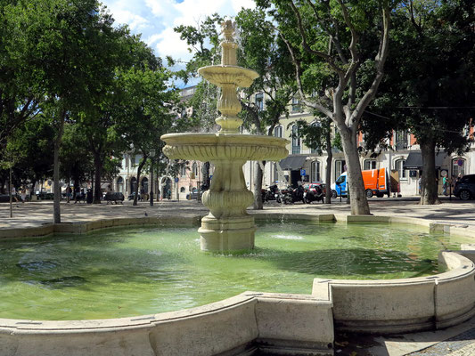 Brunnenanlage im Jardim de S. Pedro de Alcântara