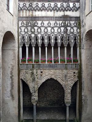 Villa Rufolo, Kreuzgang (Il Chiostro), maurischer Hof