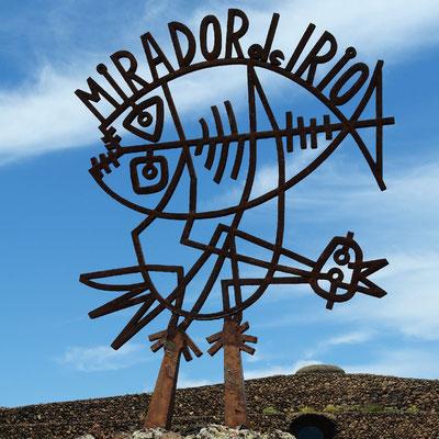 Mirador del Río. Fisch und Vogel als elementare Symbolfiguren (César Manrique)