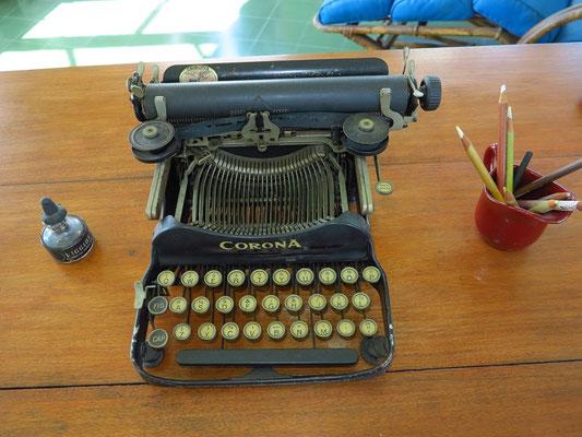 Hemingways Schreibmaschine im Schreibturm