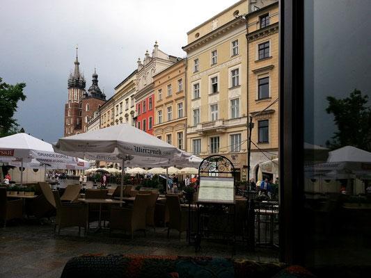 Restauracja Wierzynek, Blick aus der Bar im Erdgeschoss