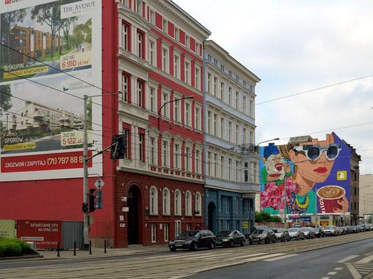 Häuserzeile an der Ul. Pilsudskiego